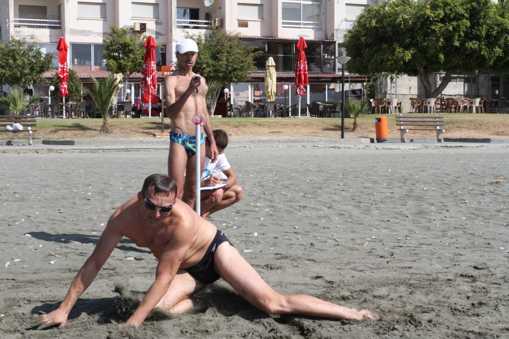 Триатлон Темп Кипр финиш плавания