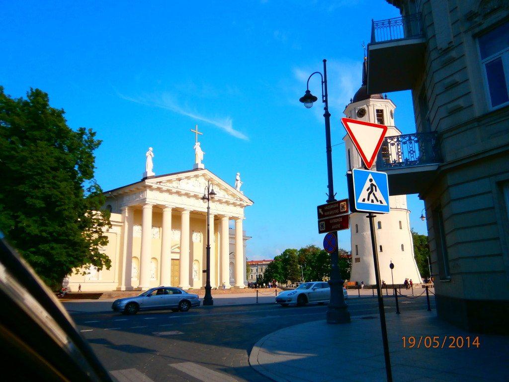 Площадь Гедиминаса в Вильнюсе
