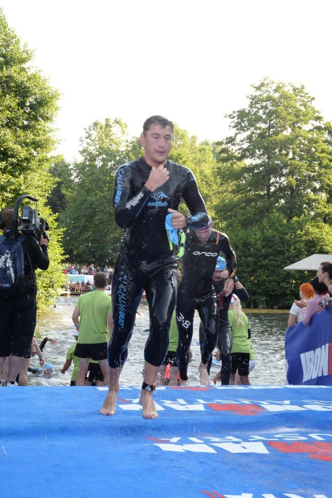 Ironman Austria out of the water