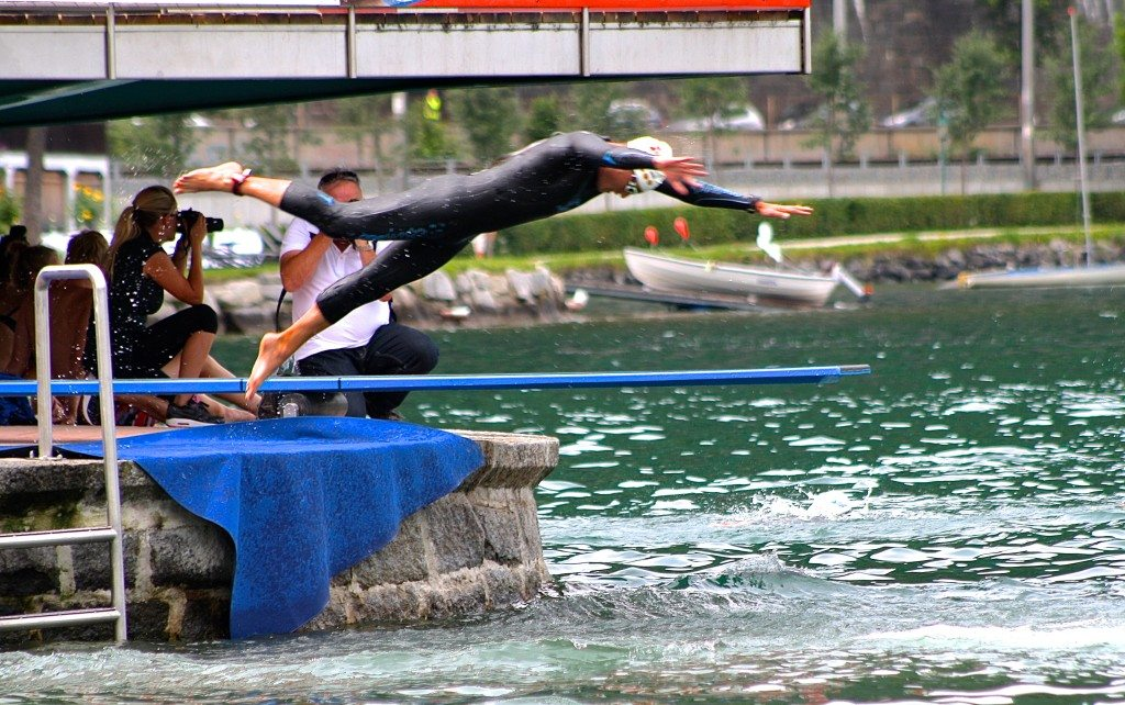 Zell am See triathlon swim