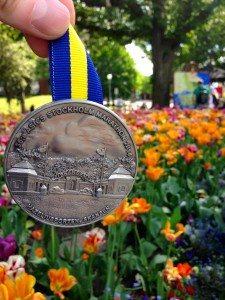 Медаль с марафона в Стокгольме