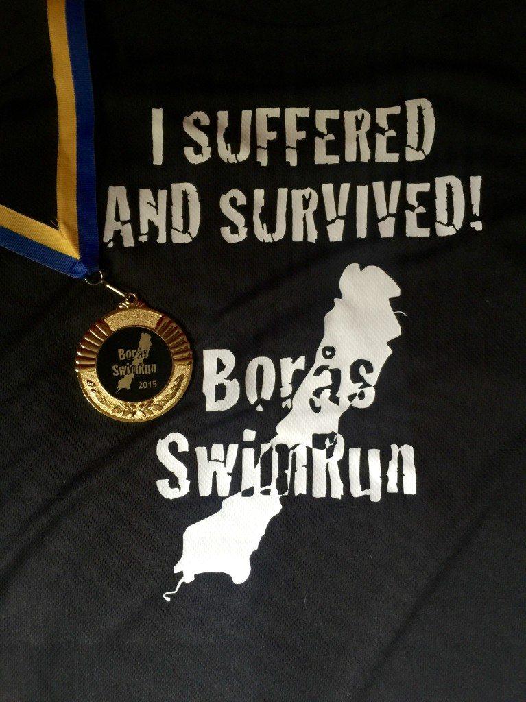 Boras swimrun футболка и медаль