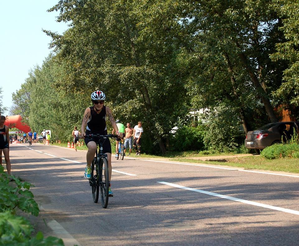Триатлон в Бережках велоэтап