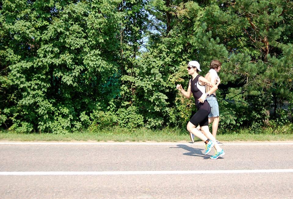 Триатлон в Бережках бег