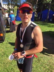 Estonia Keila triathlon after finish
