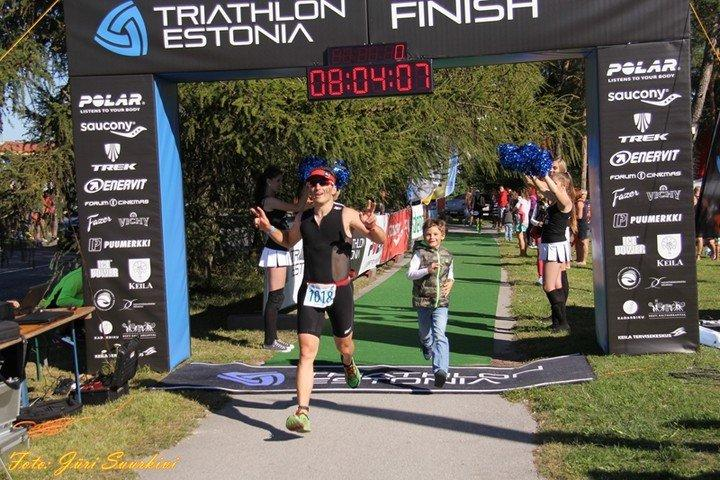Estonia Keila triathlon finish