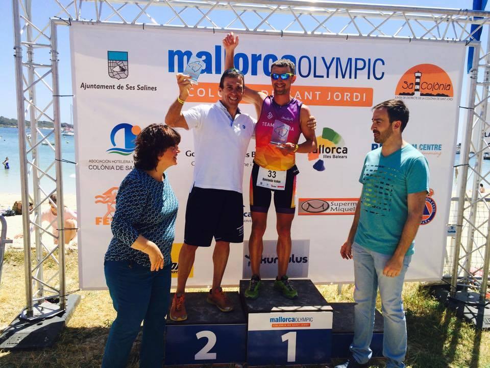 Триатлон на Майорке первое место