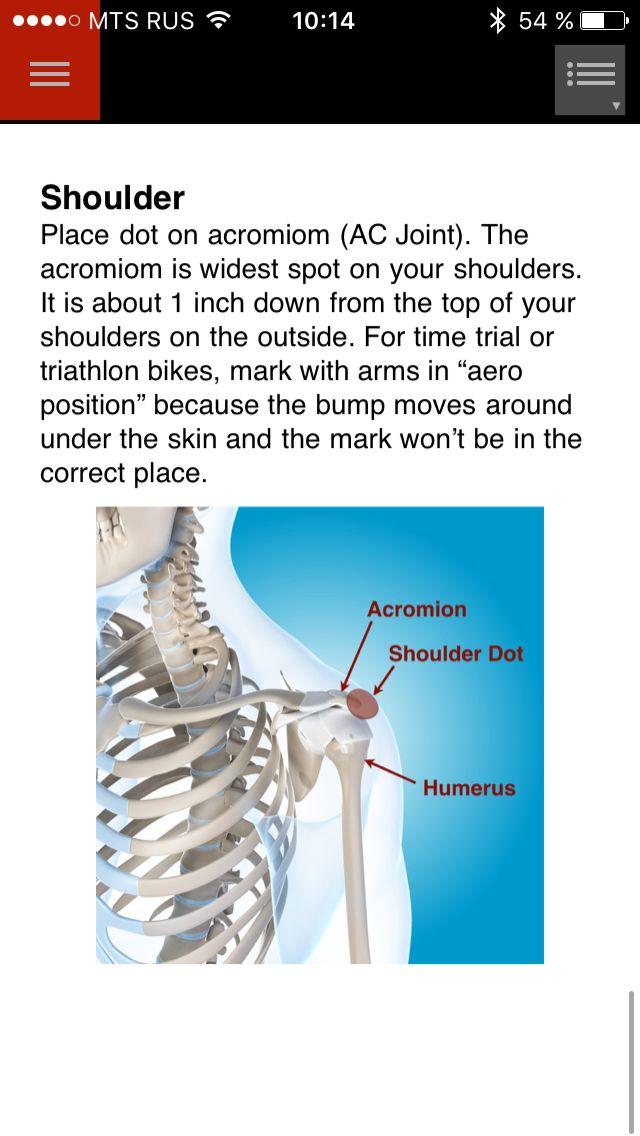 bikefastfit маркер на плечо