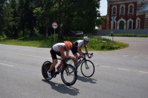 Триатлон в Бронницах вело этап
