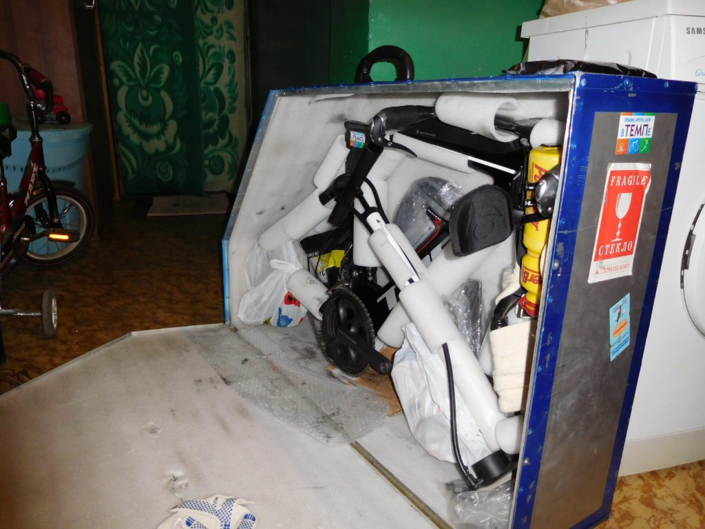 Упаковка велосипеда в кейс