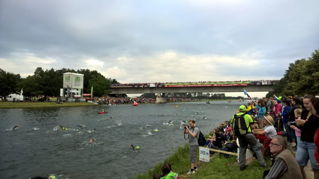 Плавательный этап Challgenge Roth