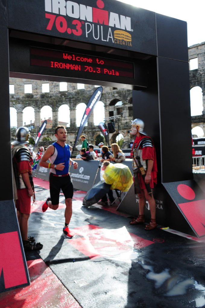 Финиш на Ironman 70.3 Pula