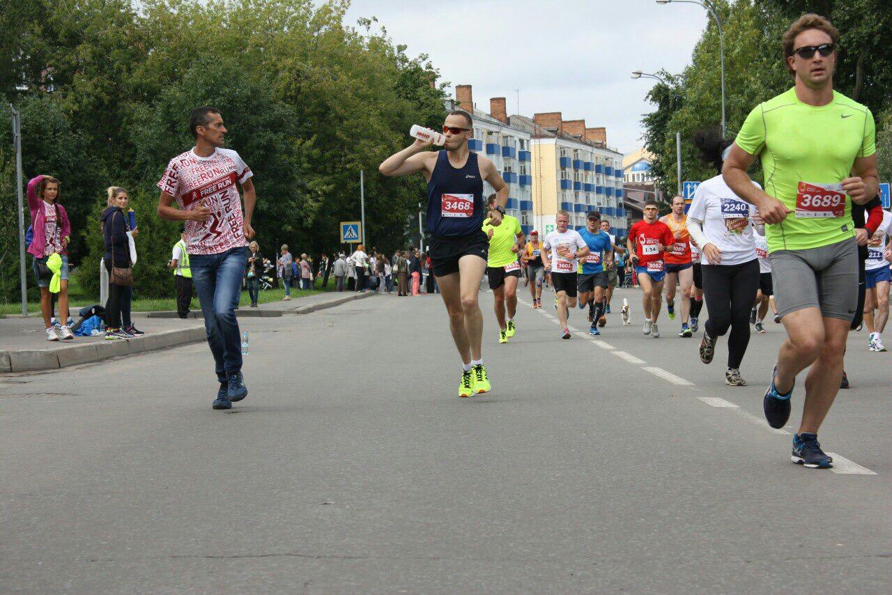 Полумарафон в Рыбинске - поддержка тренера