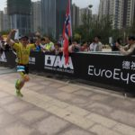 Бег к финишу на Ironman 70.3 Hefei