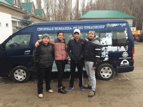 Первые сборы по триатлону на озере Иссык-куль