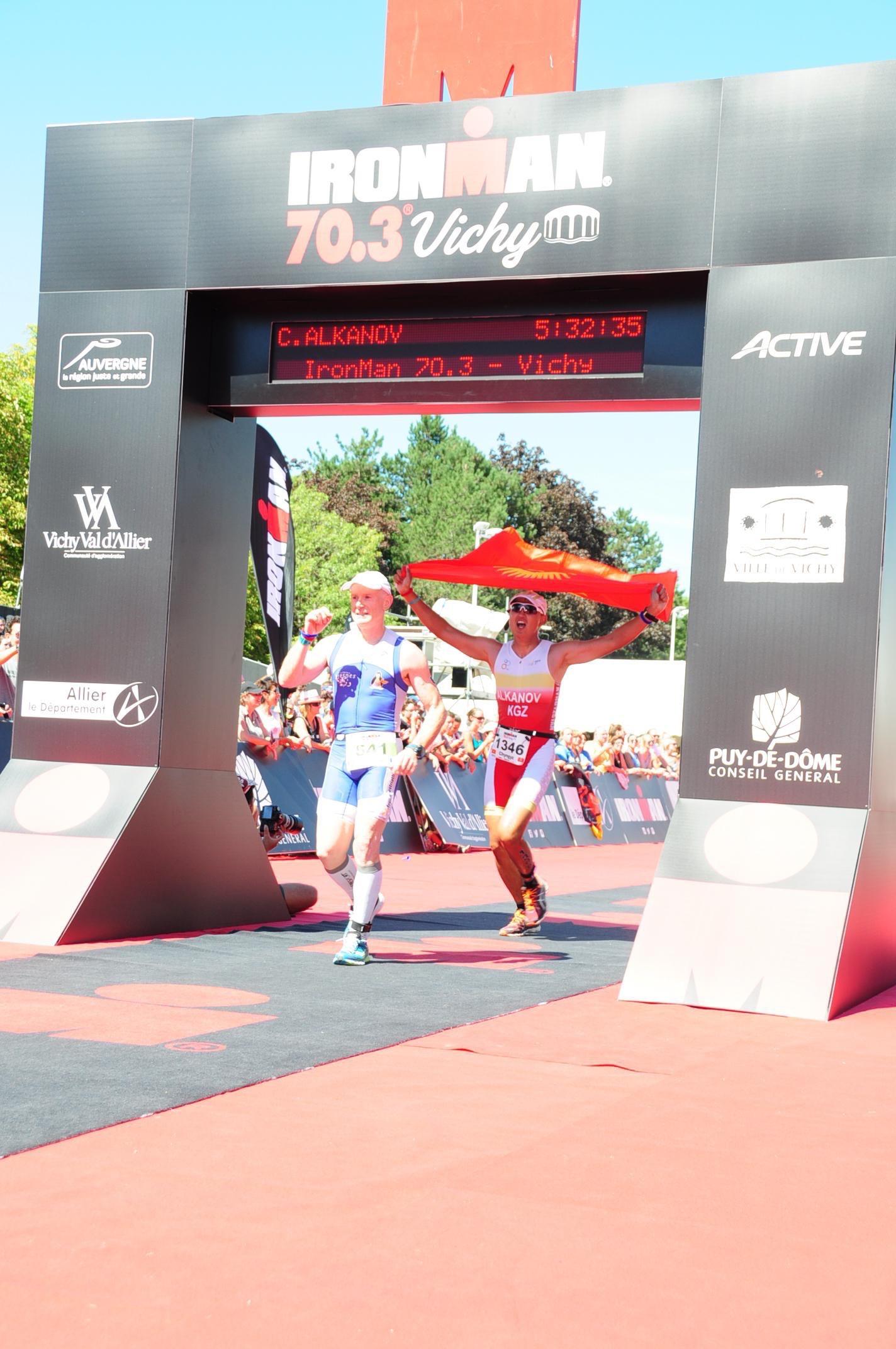 Финиш на Ironman 70.3 Vichy