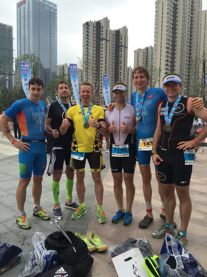 После финиша на Ironman 70.3 Hefei
