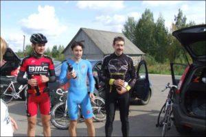 Награждение на велогонке в Рыбинске