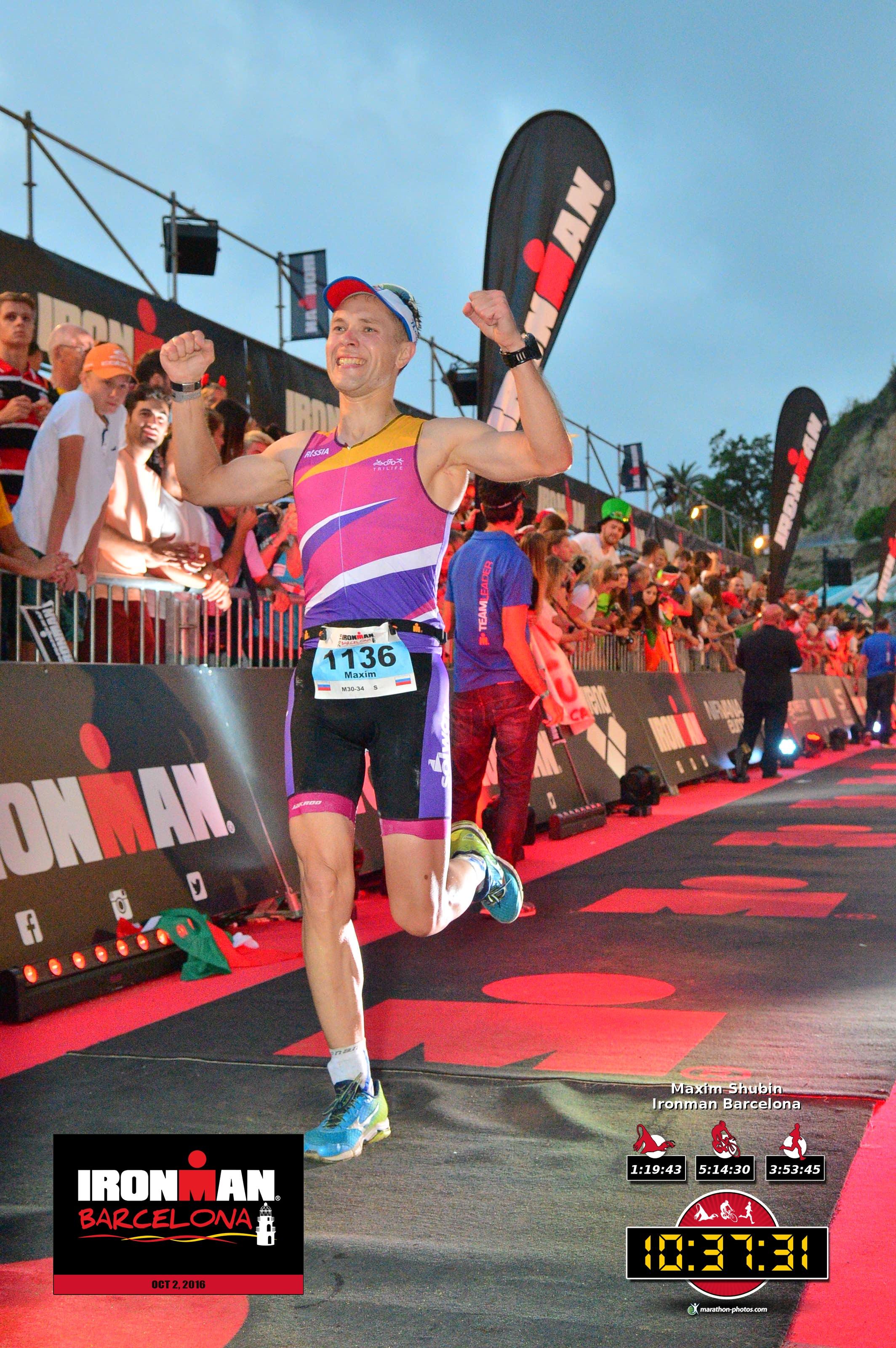 Финишная прямая на Ironman Barcelona