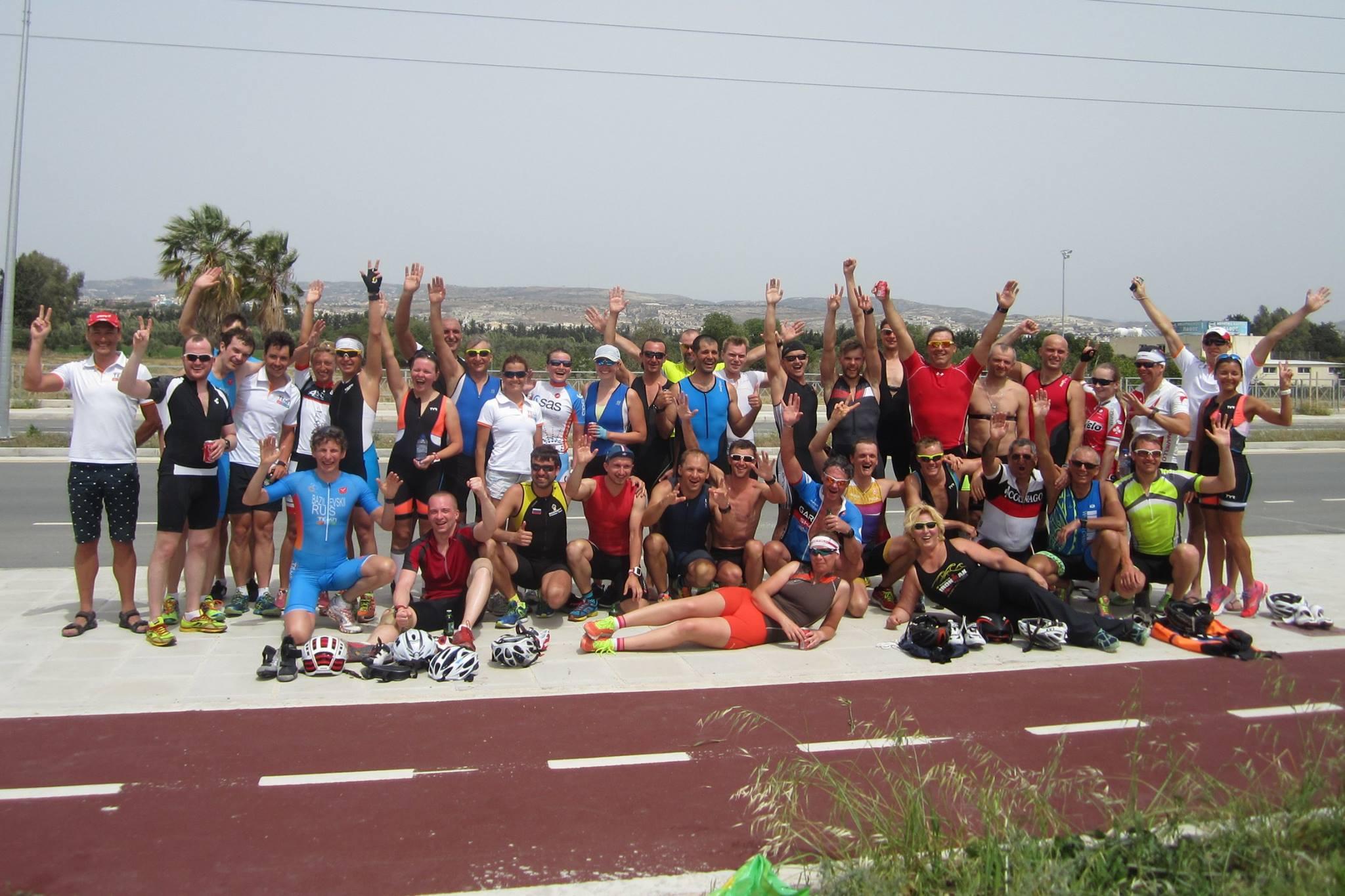 Наша команда на триатлоне в Пафосе