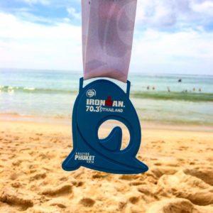 Медаль Ironman 70.3 Thailand