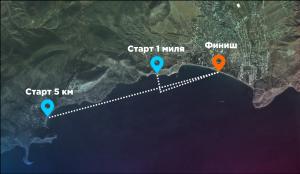 Карта заплыва Crimea Swim