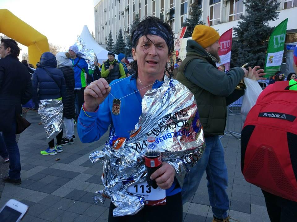 Финиш на марафоне Краснодар HardRun