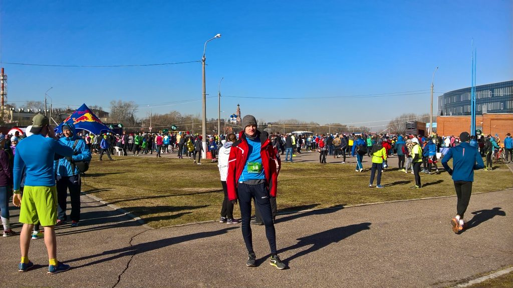 На старте марафона в Бронницах