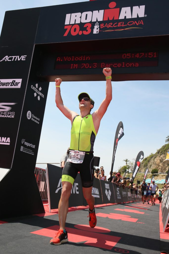 Ironman 70.3 Barcelona финиш