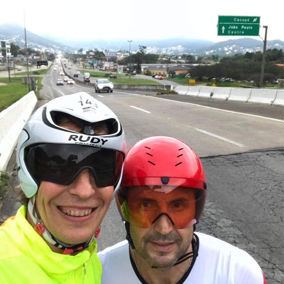 Юрий Базилевский и Валерий Фазлутдинов на Ironman Florianopolis