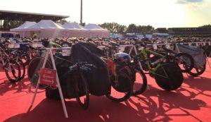 Стойка велосипедов про атлетов на Challenge Samorin