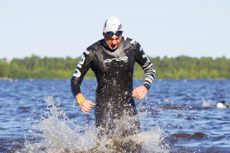 Выход из воды на триатлоне А1