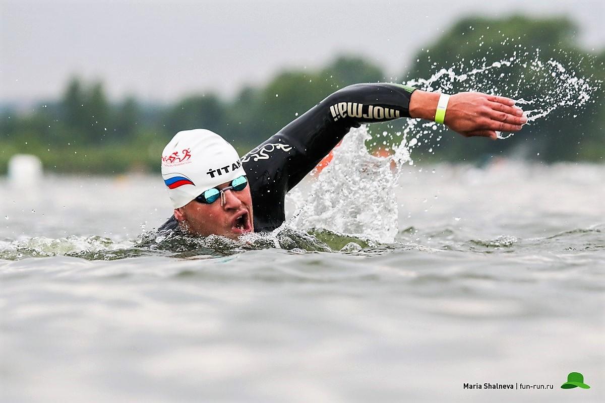 Триатлон в Бронницах плавание