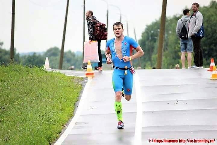 Беговой этап триатлона Титан в Бронницах