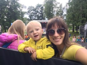 С семьей на триатлоне