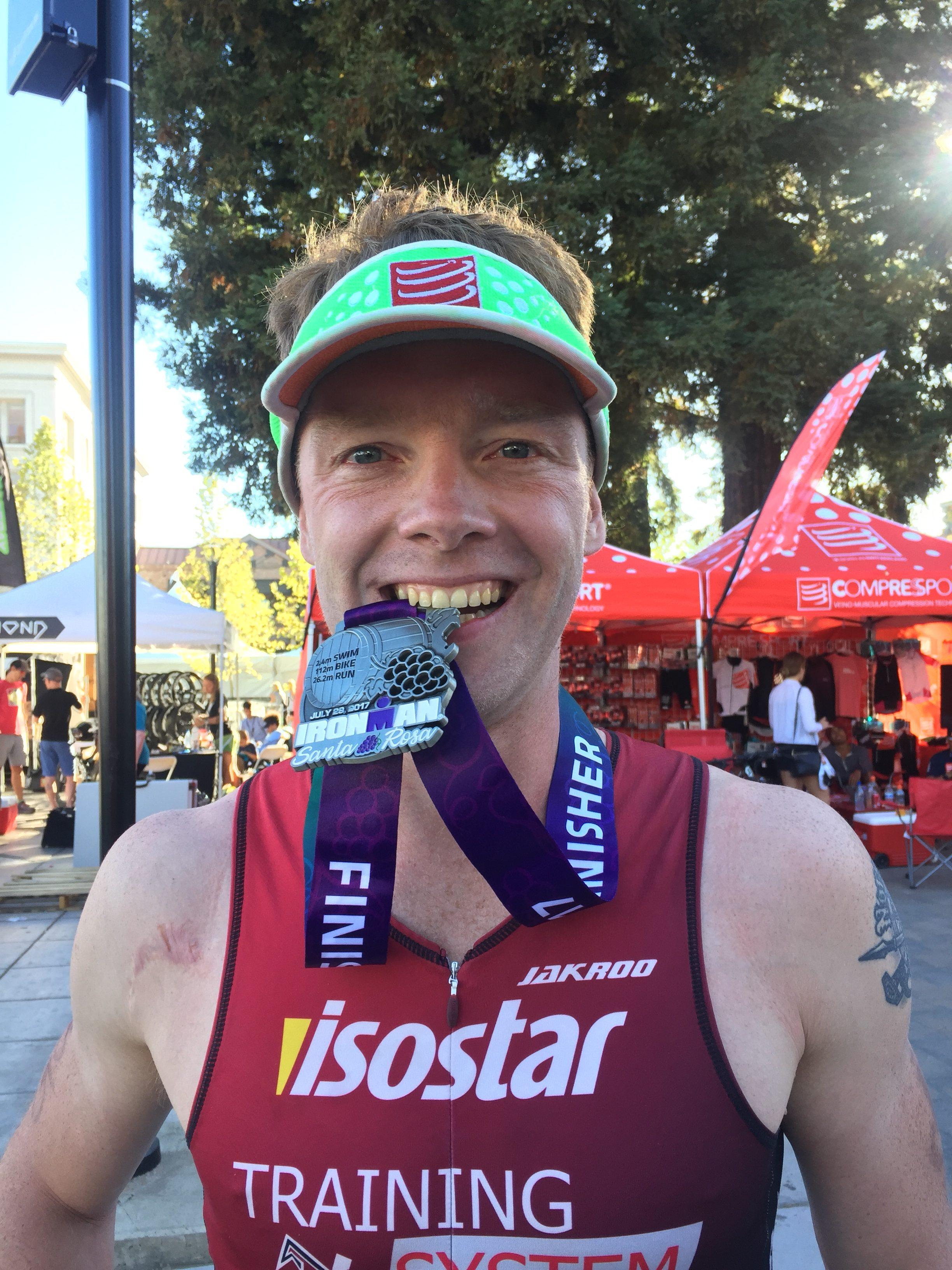 Фото финишера Ironman Santa Rosa