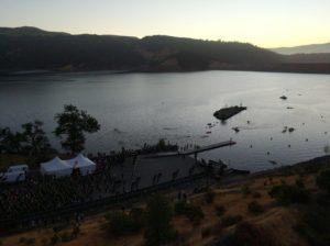 Начало плавания на Ironman Santa Rosa