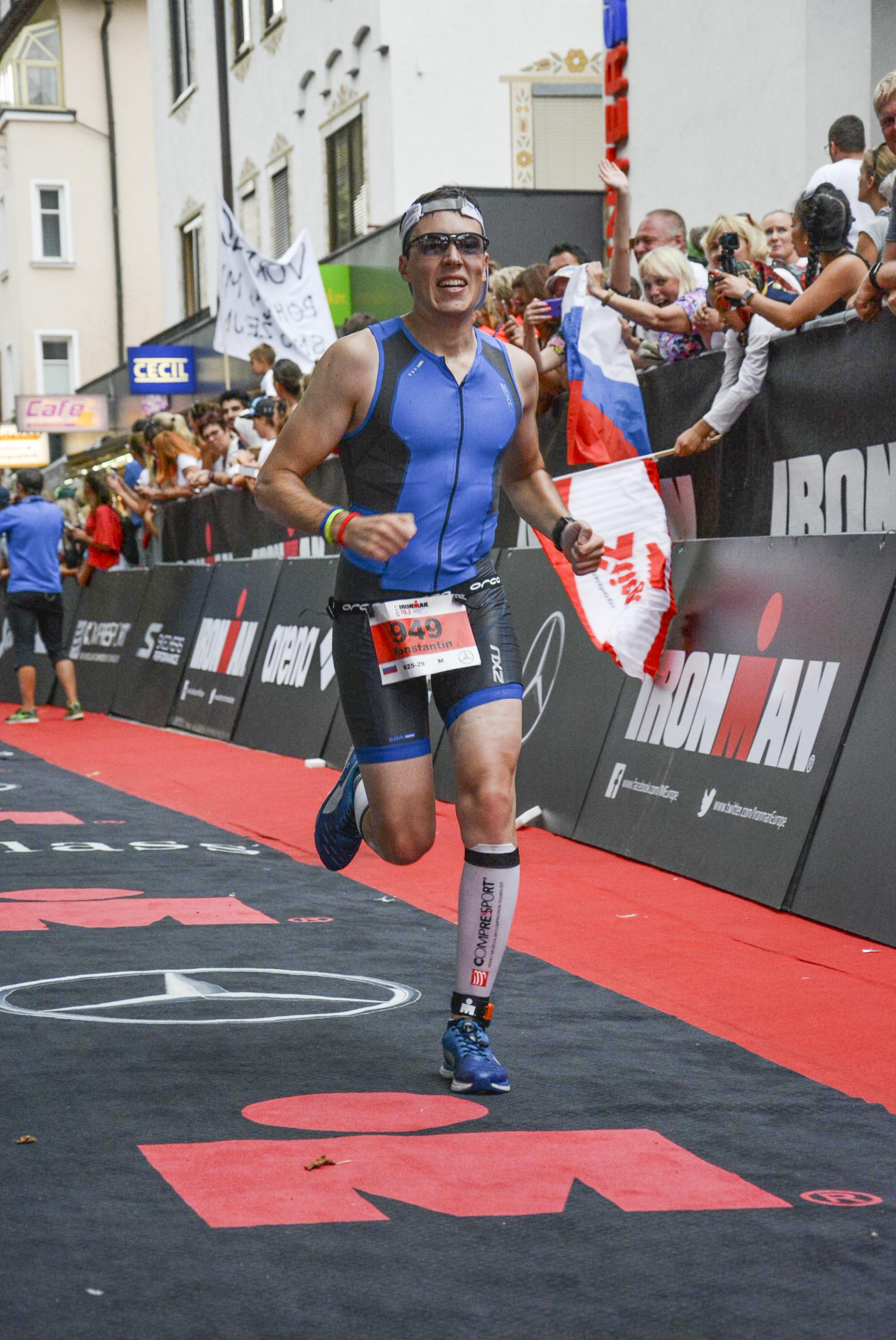 Финишная прямая на Ironman 70.3 Zell am See