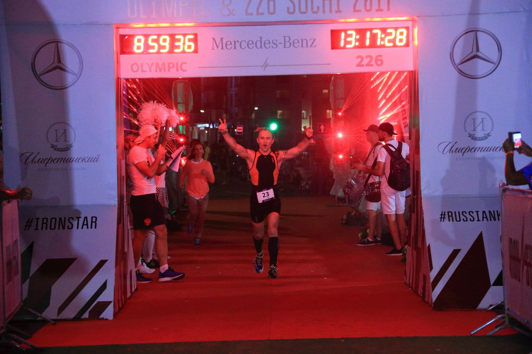 Финиш на дебютном Ironstar 226 Sochi