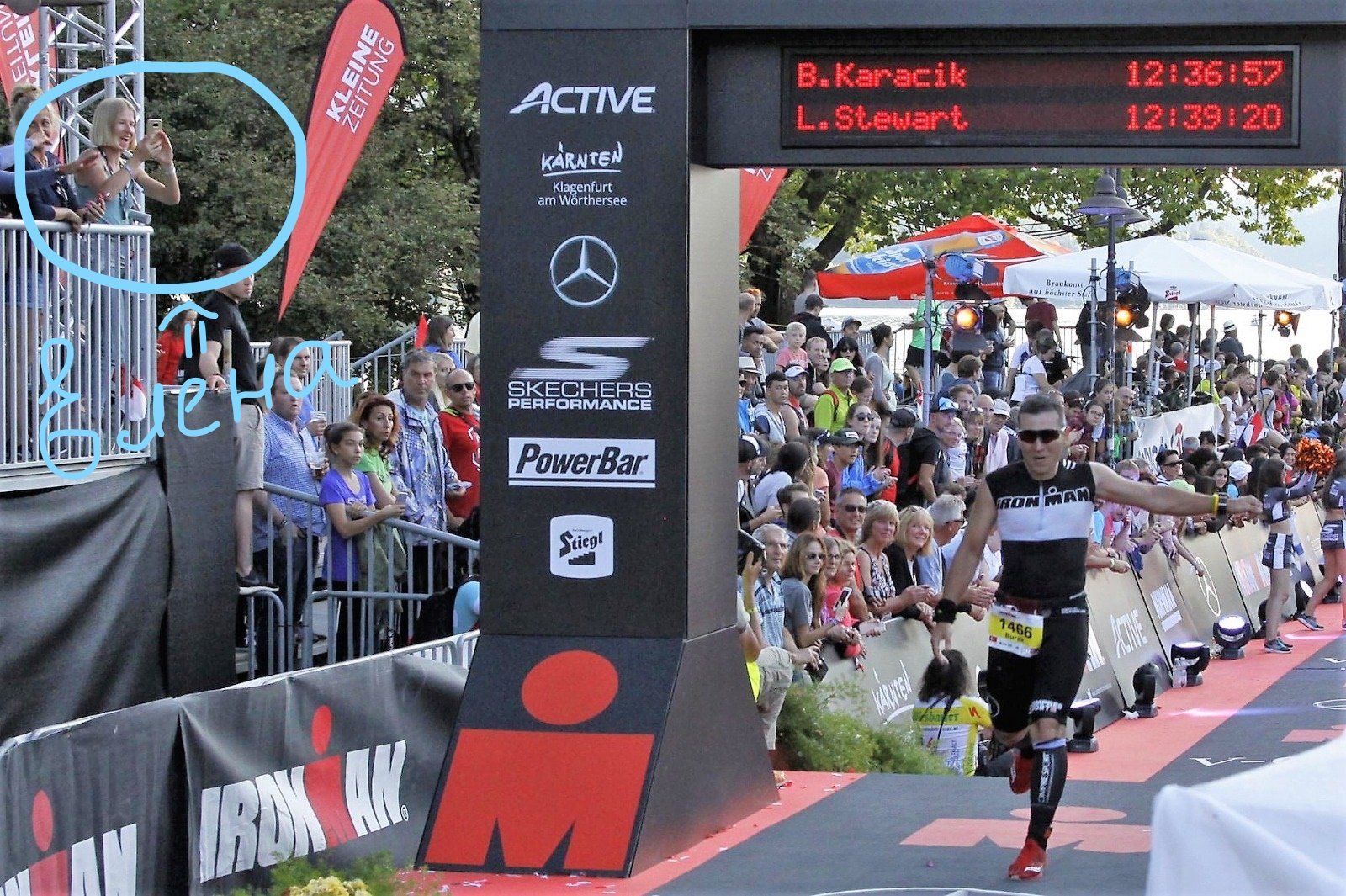 Финиш на Ironman Austria