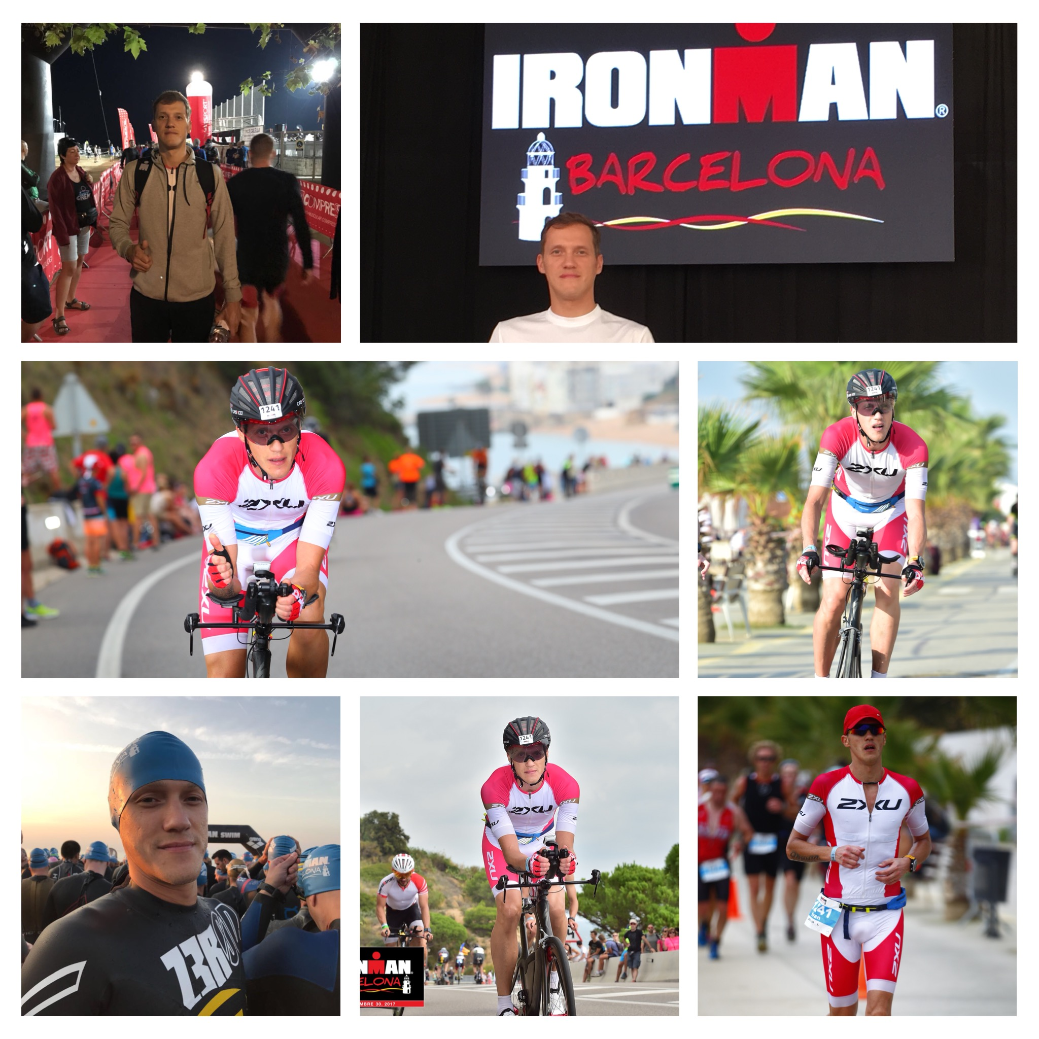 Коллаж с Ironman Barcelona