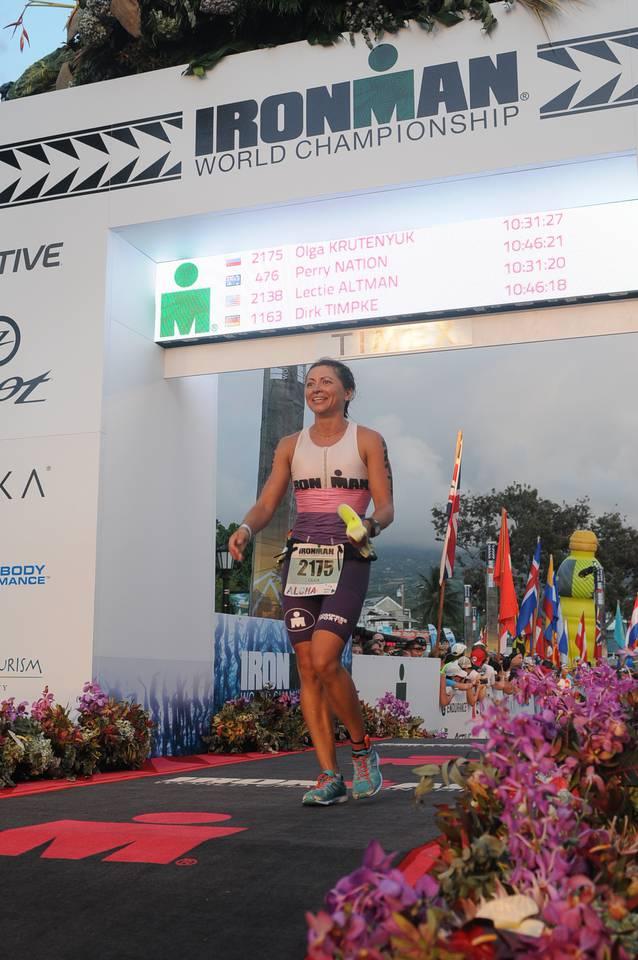 Финиш на Ironman Kailua Kona World Championship