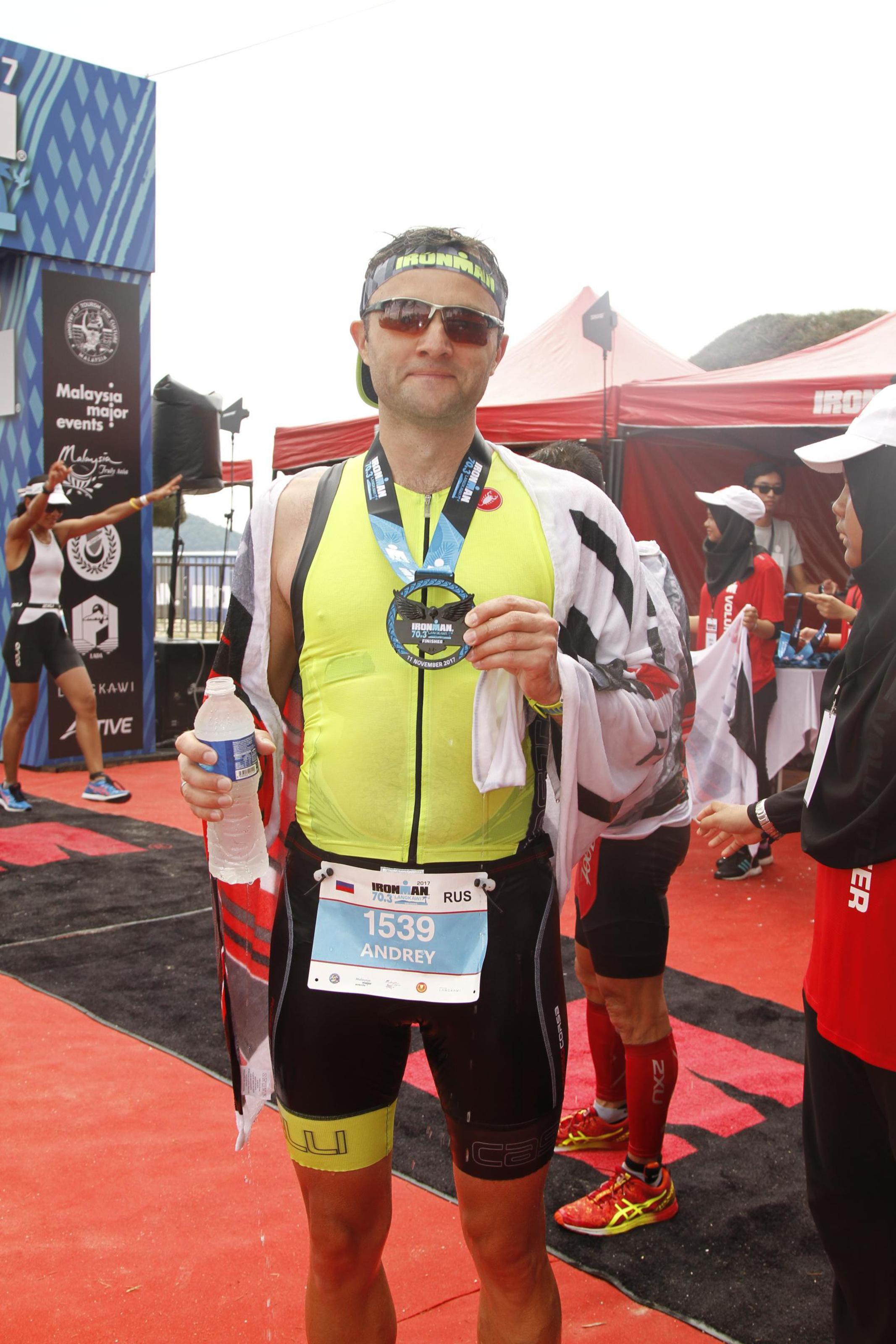 После финиша Ironman 70.3 Langkawi