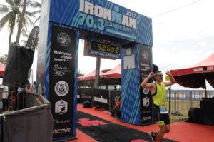 Финиш Ironman 70.3 Langkawi