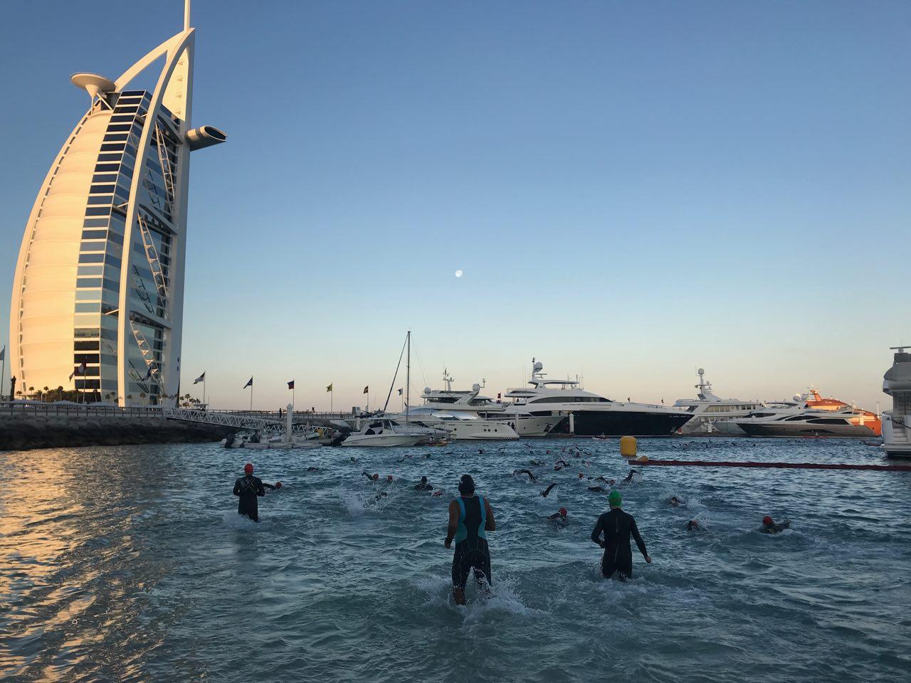 Плавание на Ironman 70.3 Dubai