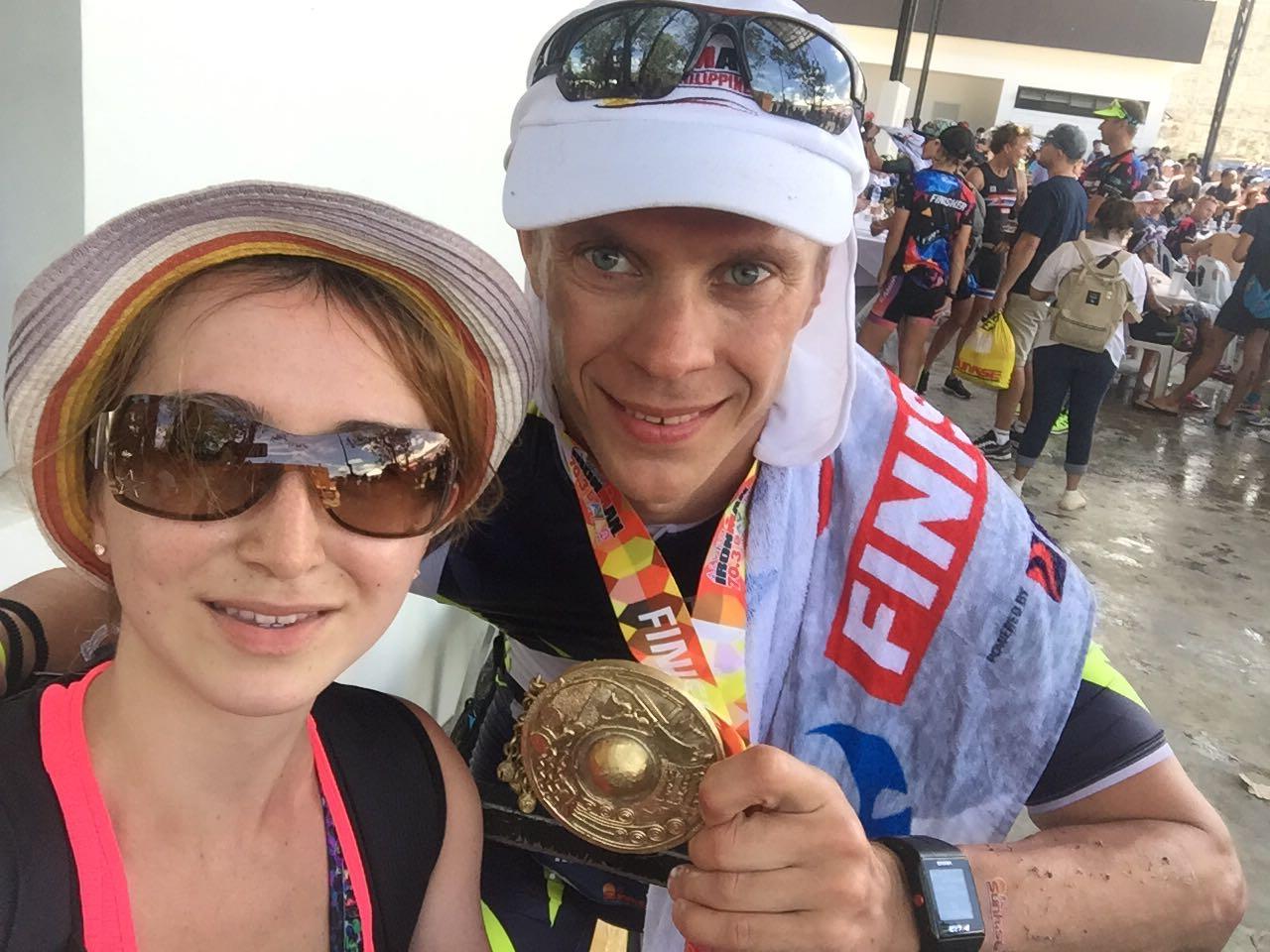 После финиша Ironman 70.3 Philippines