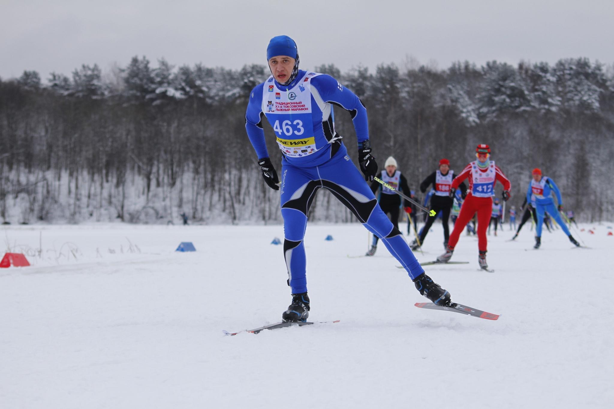 На пути к финишу лыжного марафона