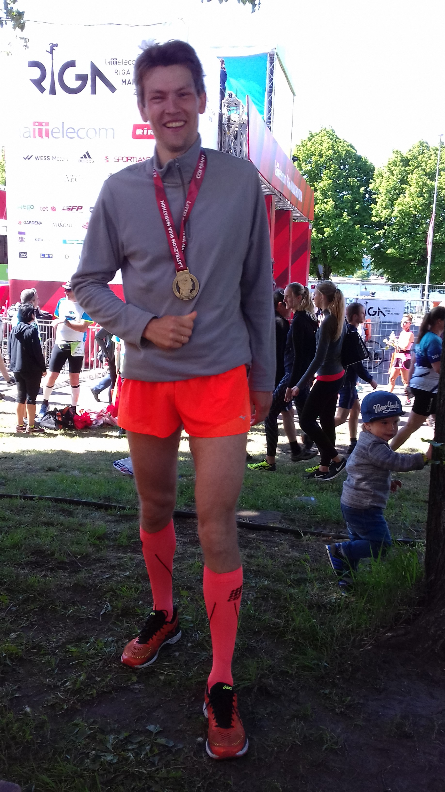 На финише марафона в Риге