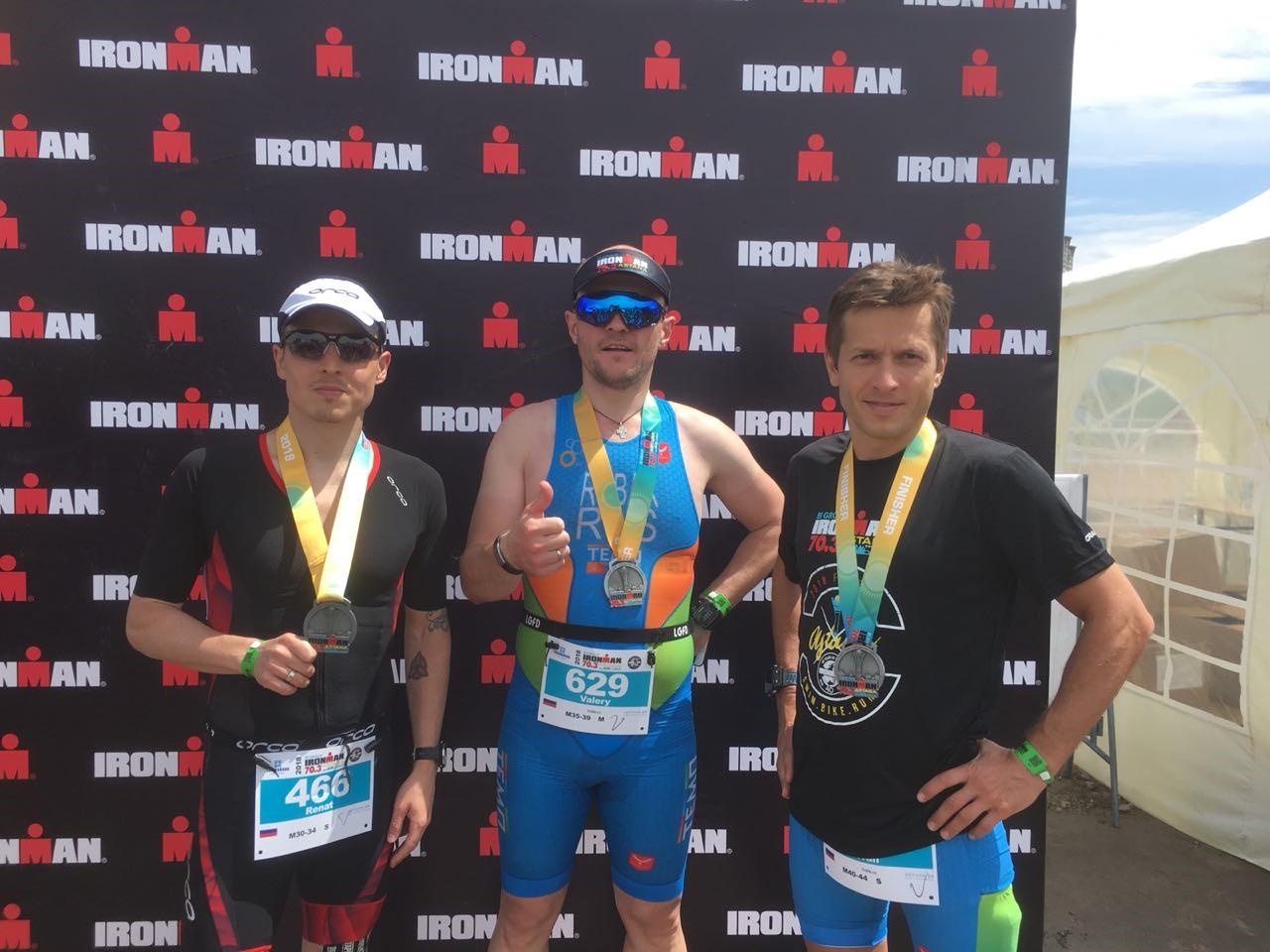 После финиша на Ironman 70.3 Astana