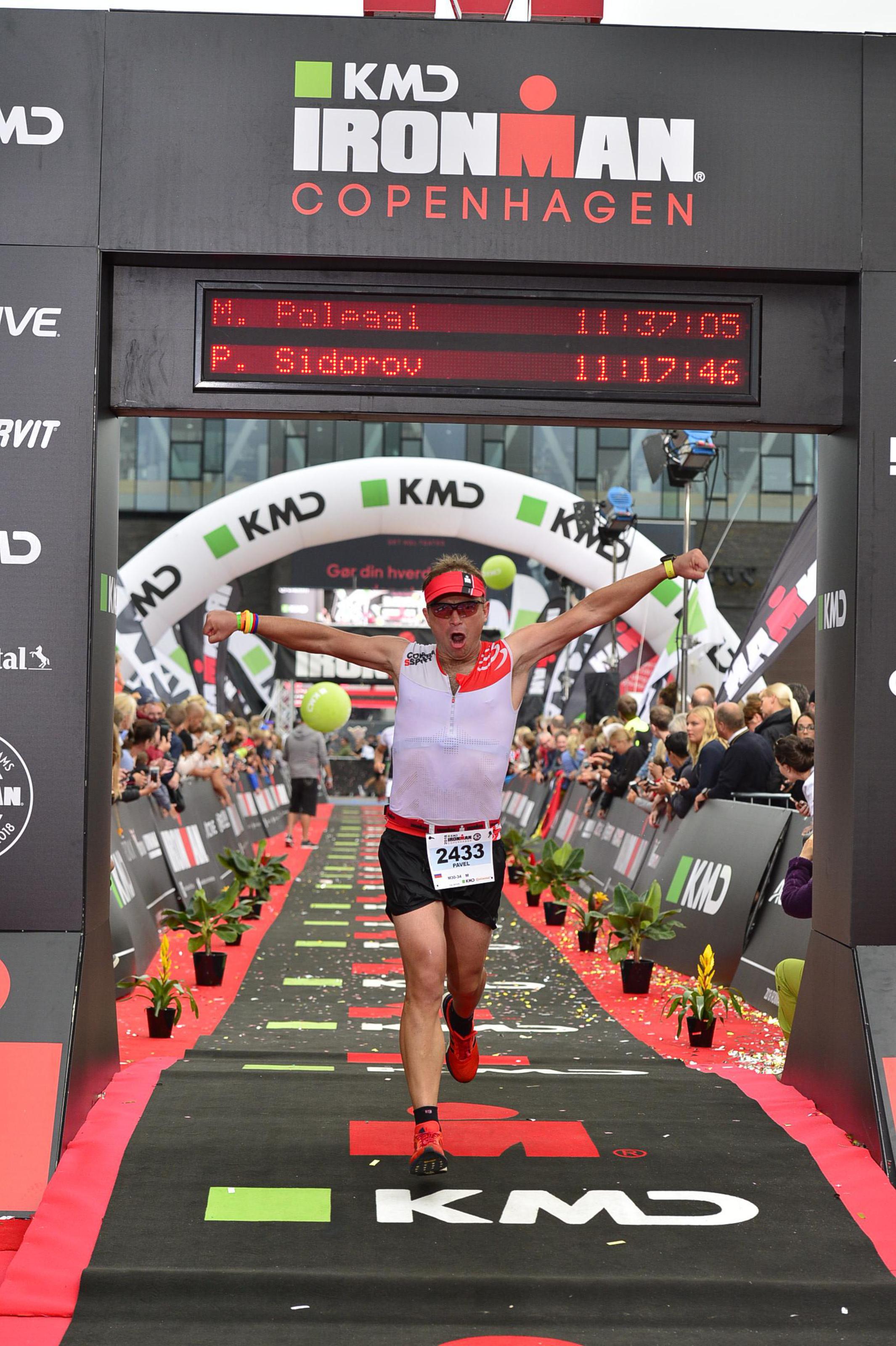 Финишный створ на Ironman Copenhagen